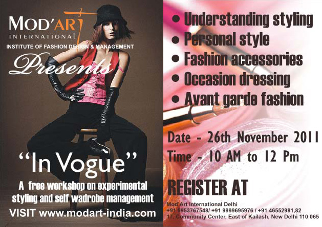 Free Workshop On Experimental Styling And Self Wardrobe Management Mod Art International Institute Of Fashion Design Delhi Mumbai